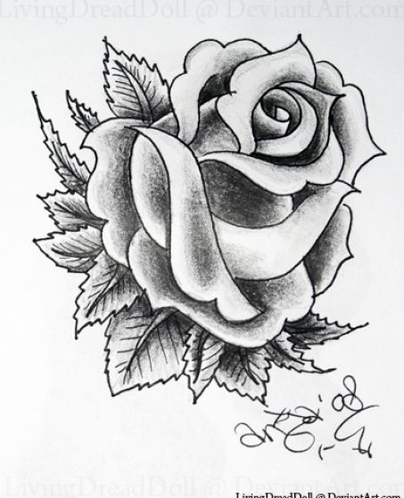 Tattoo Ideas With Roses: Black And White Rose Tattoo Designs 4