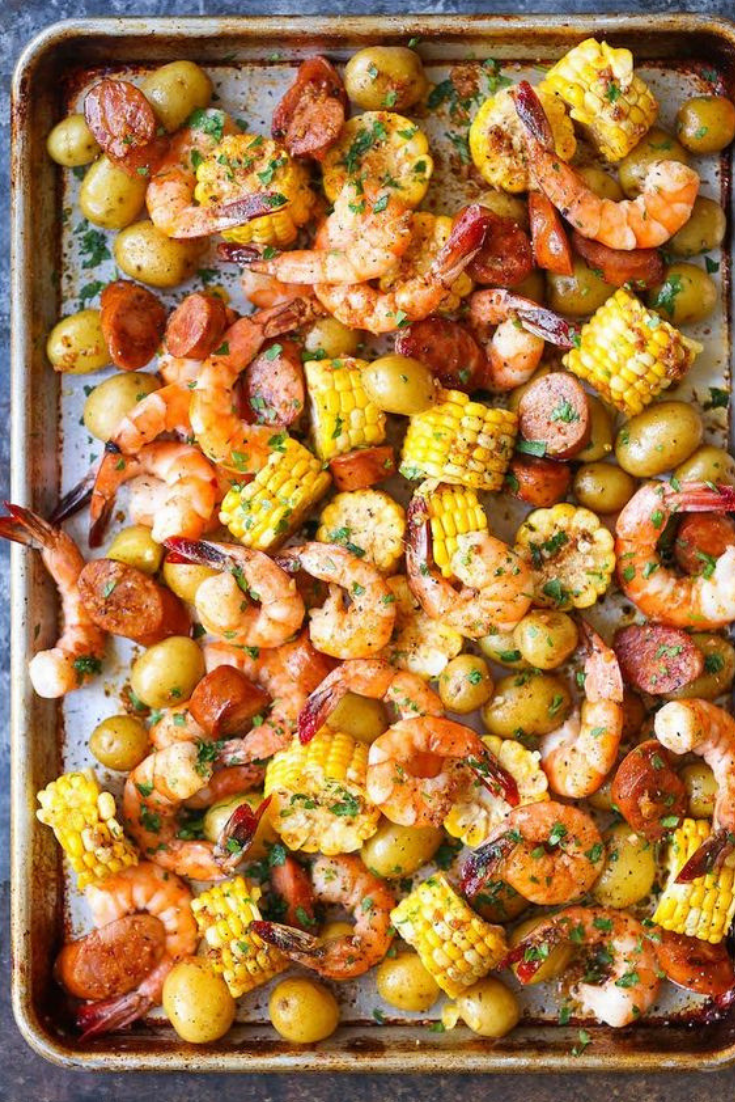 Easy Healthy Sheet Pan Shrimp Boil Dinner Recipes images