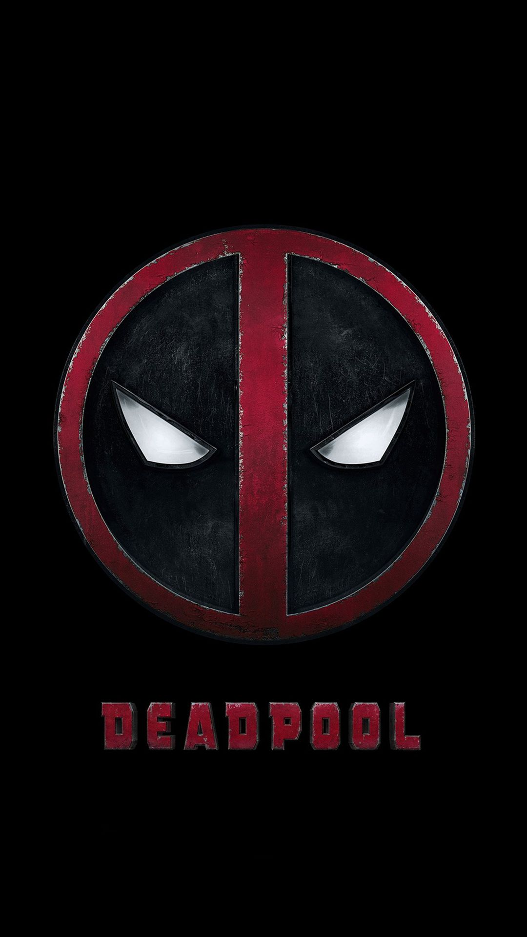Deadpool Logo Dark Art Hero Iphone  Plus Wallpaper Deadpool Movie Poster