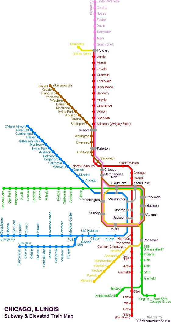 Chicago Subway Map Picture.Chicago Subway And Elevated Map C Mon Baby Don T Ya Wanna Go To