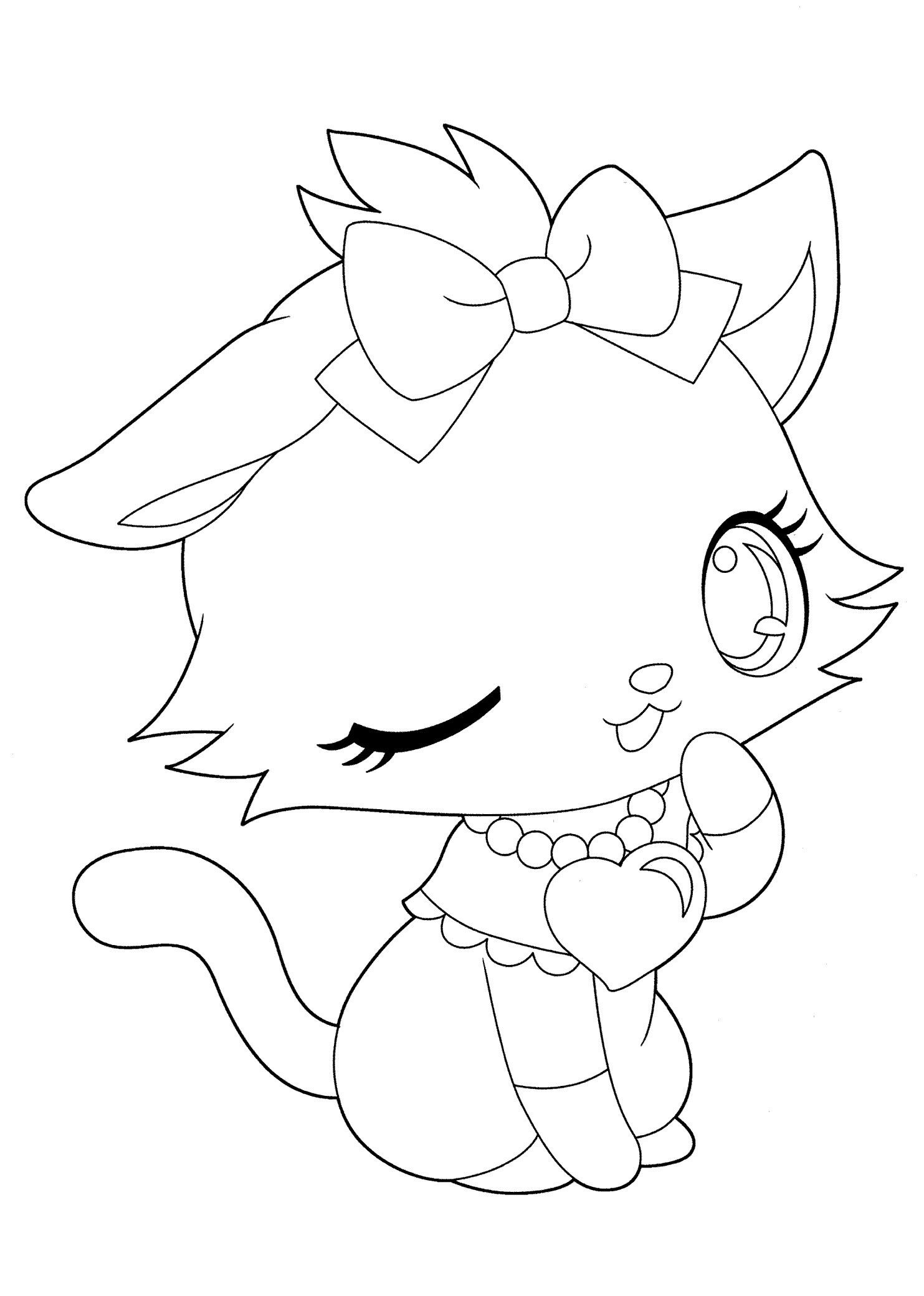 Cute Cat Coloring Pages Through The Thousands Of Images On The Internet About Cute Cat Coloring Pag Kitty Coloring Unicorn Coloring Pages Cute Coloring Pages