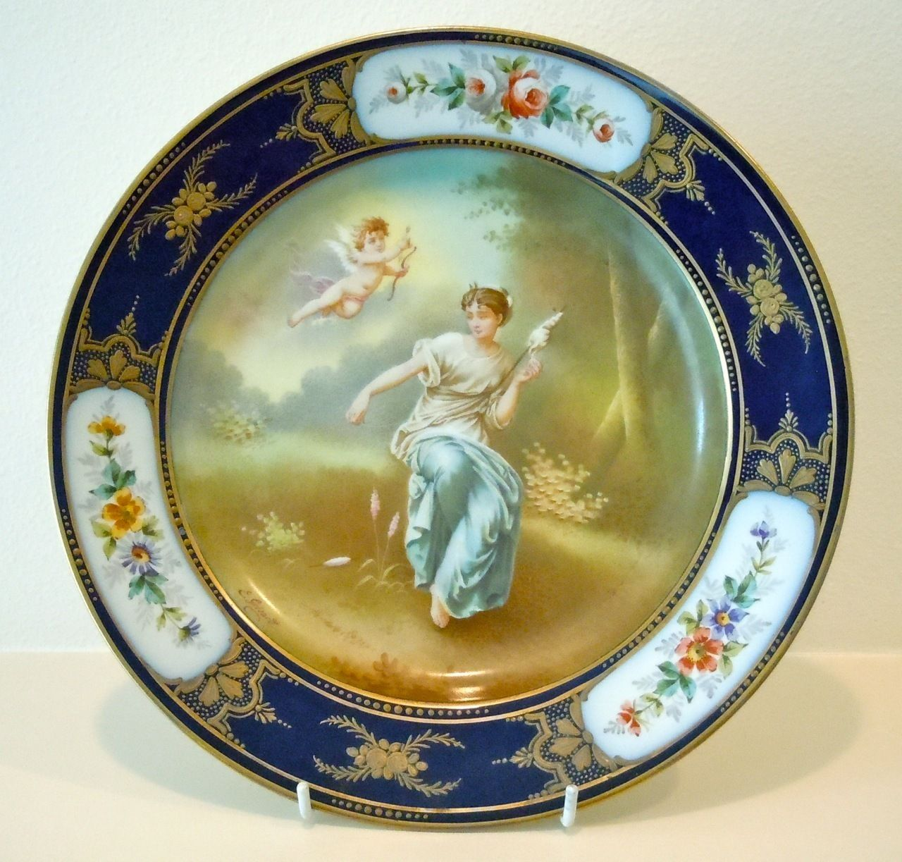 Collector Plates Value - Bing Images & Antique French Sevres Chateau des Tuileries Gold \u0026 Cobalt Cabinet ...
