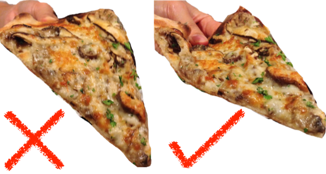 How A 19th Century Math Genius Taught Us The Best Way To Hold A Pizza Slice Piece Of Pizza Eat Pizza Pizza Slice