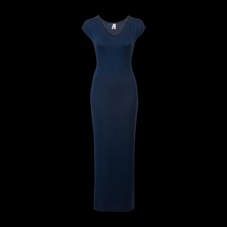 Lange jurk met split zijkant