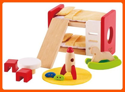 Hape Wooden Doll House Furniture Childrens Room With Accessories