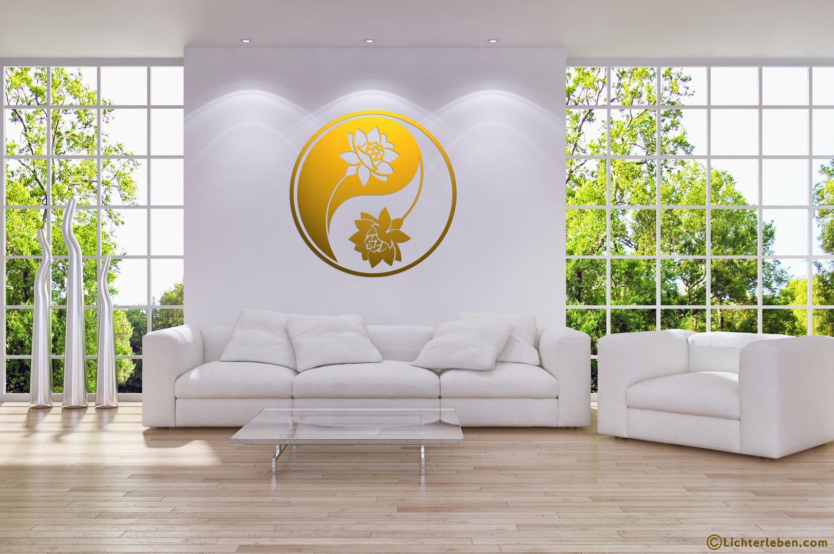 Fesselnde Wandtattoo Gold Dekoration Von Yin Yang In Als Das Ist Der