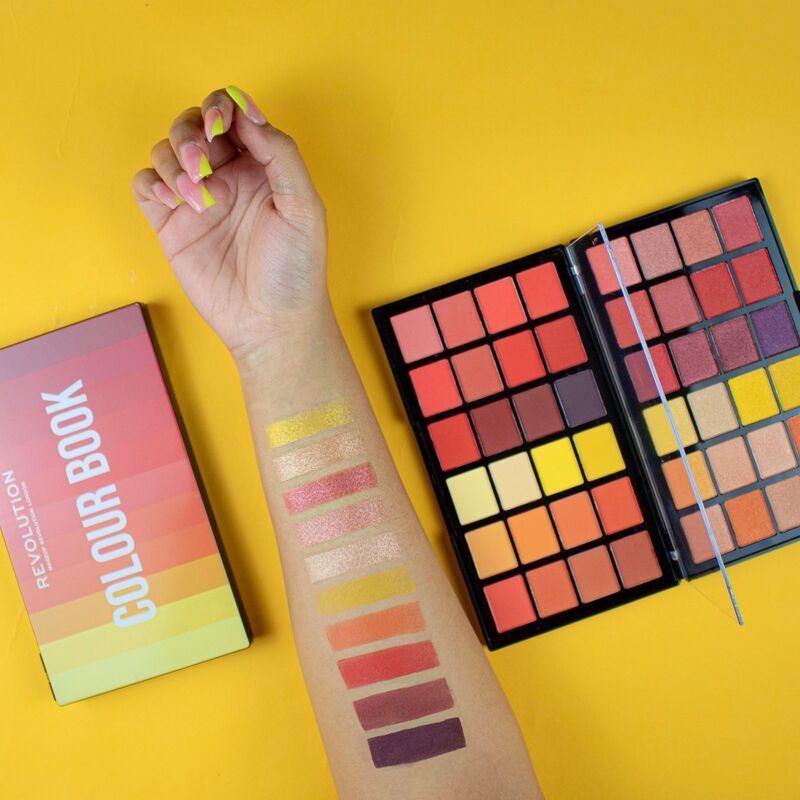 Makeup Revolution Colour Book Cb03 Shadow Palette In 2020 Shadow Palette Makeup Revolution Coloring Books