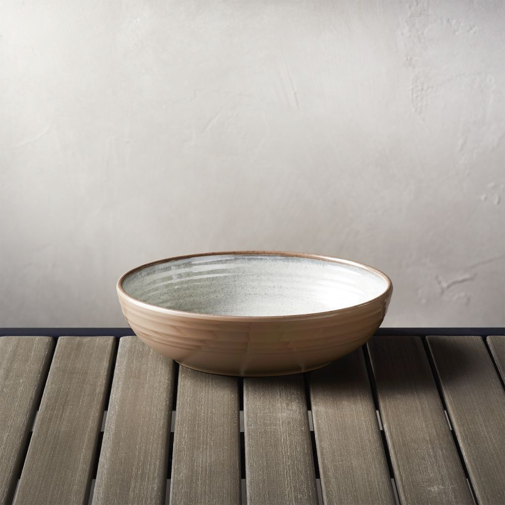 "Caprice Stone 8"" Melamine Bowl - Crate and Barrel"