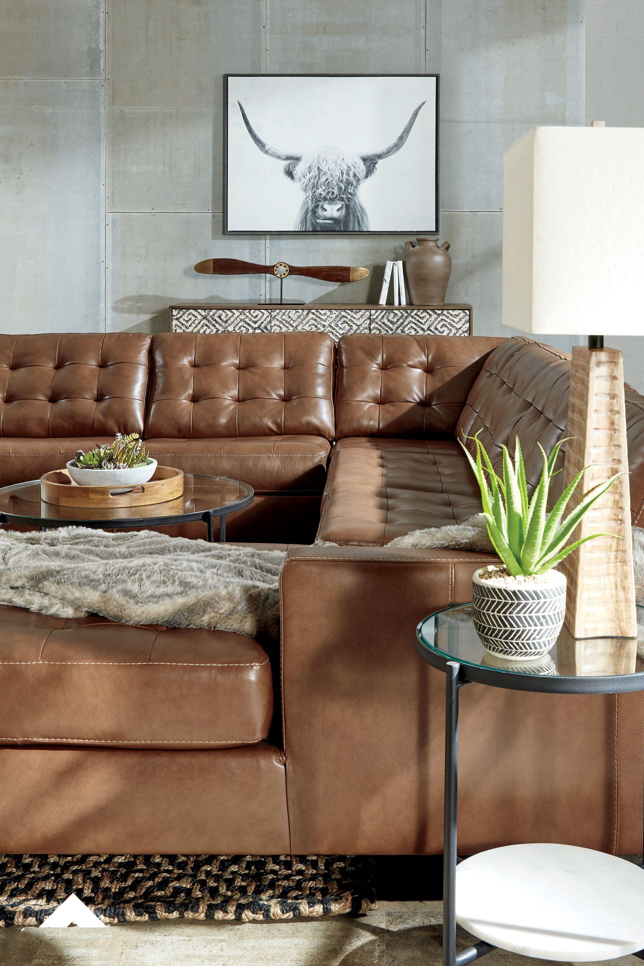 Baskove Auburn Sectional By Ashley Furniture Ashleyfurniture Leather Sectional Furniture Sectional