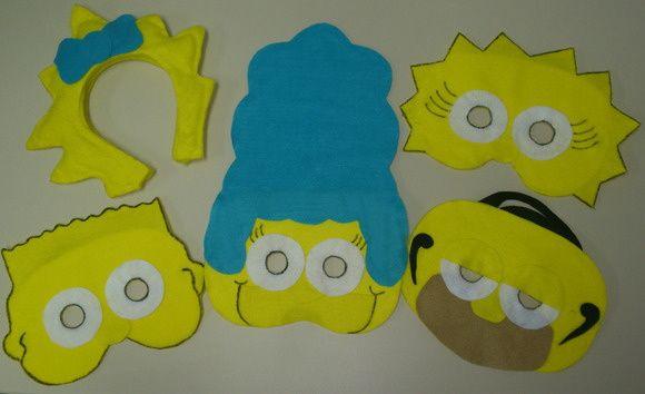 Máscaras em Feltro Simpsons