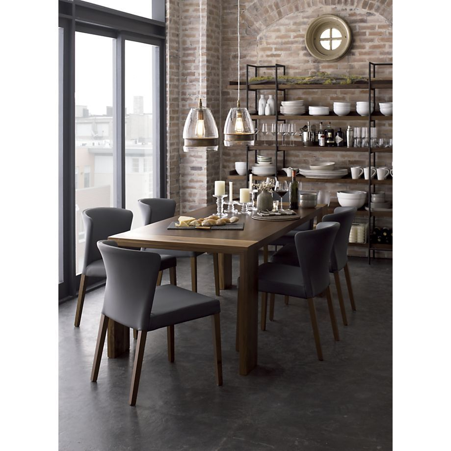 Large Modern Dining Room Tables: Crate And Barrel. #shelving #dinning #modern