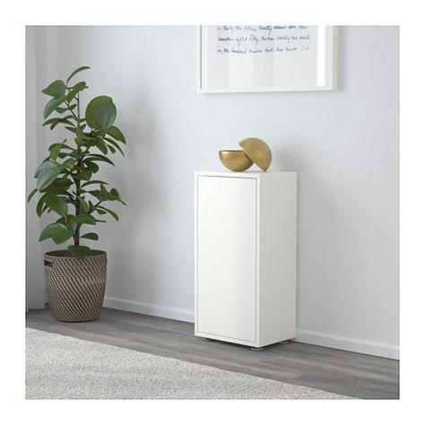 EKET Schrank mit Tür + 2 Böden, weiß Boden, Ikea und Schränkchen