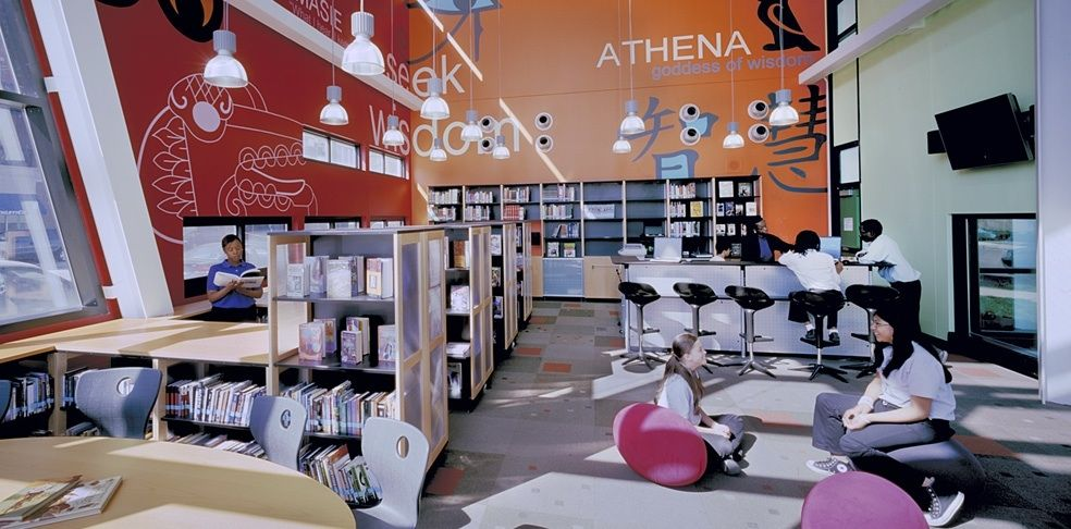 Media Center Perspectives Charter School Perkins Will Chicago Find This Pin And More On TOP Interior Designers