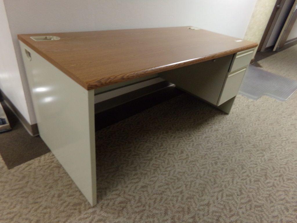 Hon Metal Laminate Desk Superior Auction Appraisal Llc Desk Laminate Online Furniture