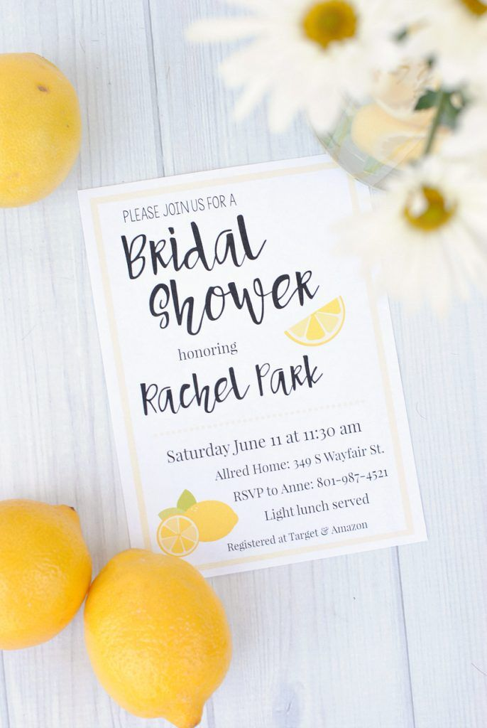Lemon themed summer bridal shower themed bridal showers and lemon themed bridal shower invitations filmwisefo Image collections