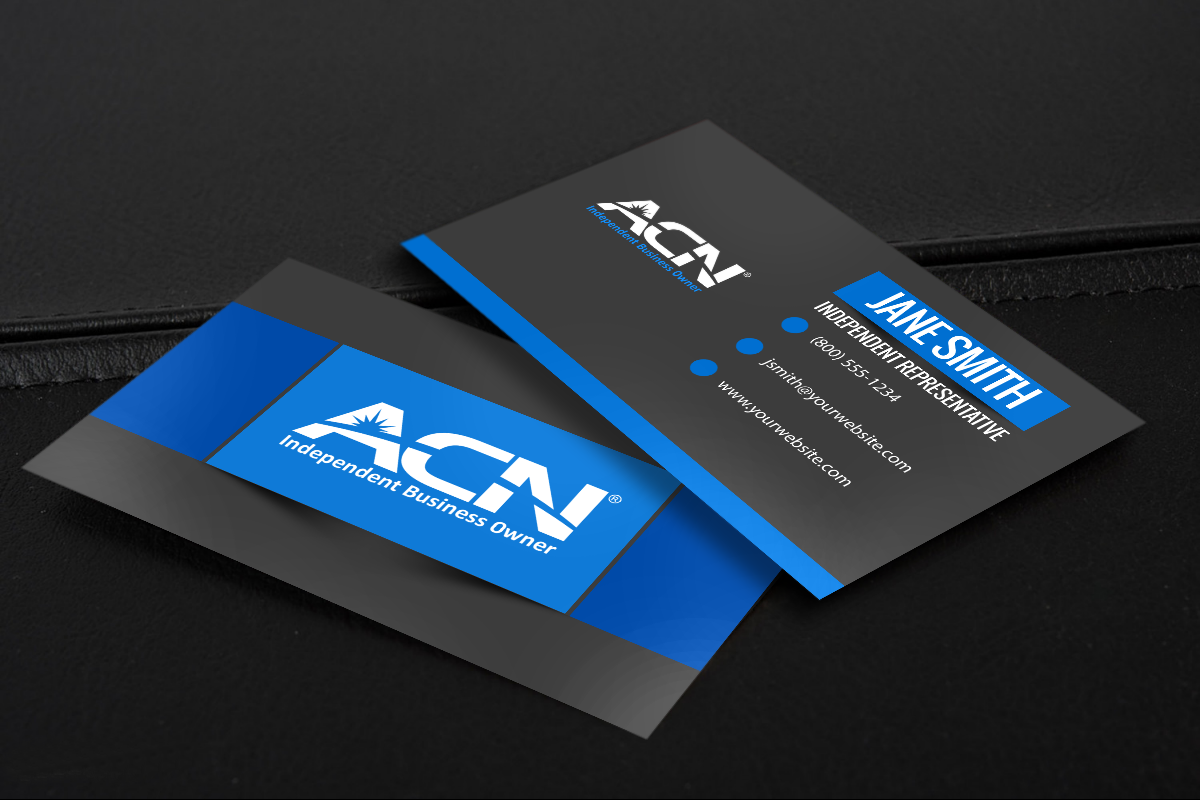 We Have All New Contact Cards For Acn S Independent Business Owners Mlm Acn Print Paper Grap Free Business Cards Printing Business Cards Business Cards