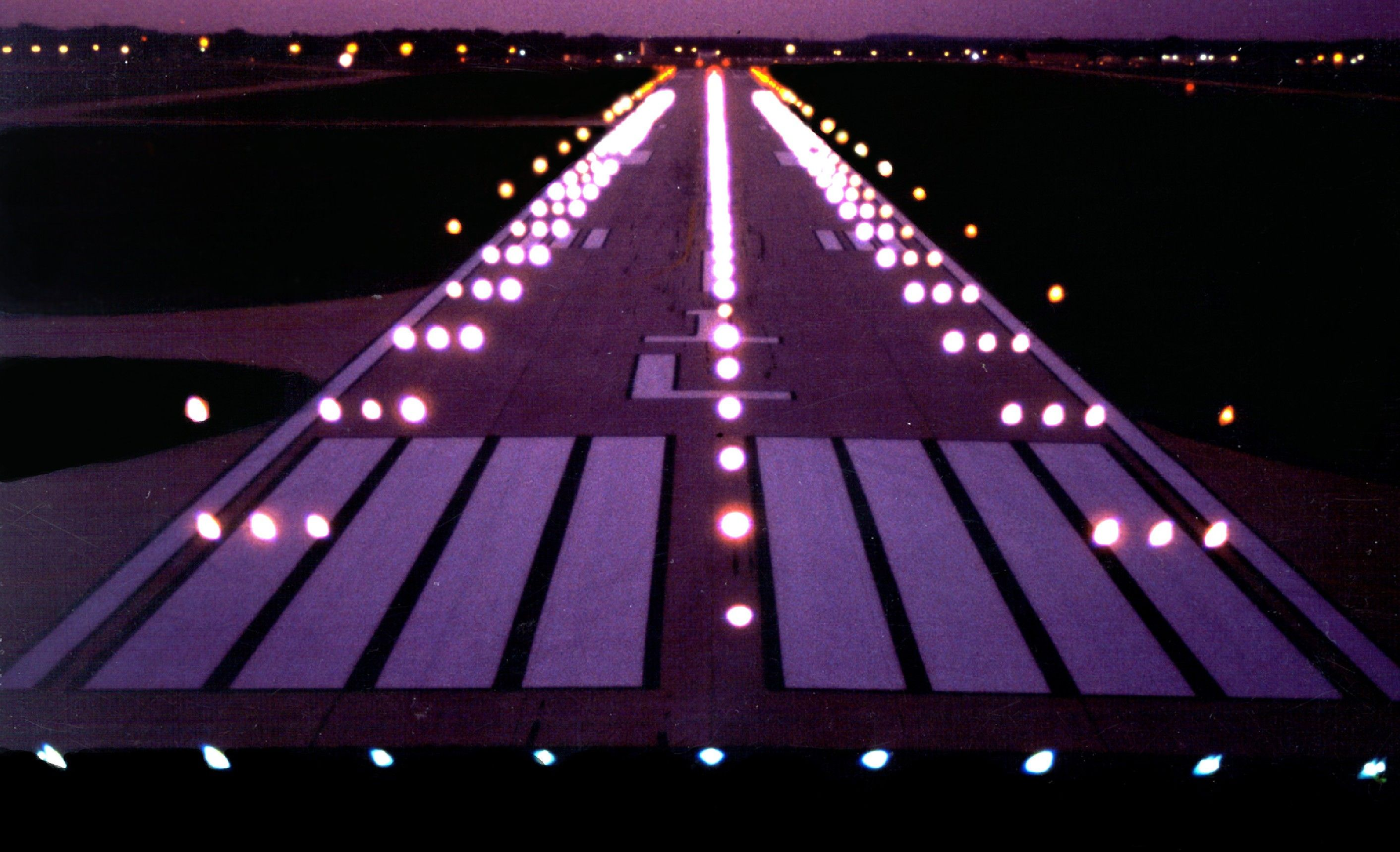 Dupage Airport Runway Lit Up At Night No1traveller Com Private