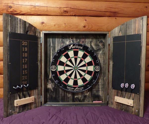 Machen Sie Ihre Palette Dart Board Cabinet Palettede Com Dartscheibe Diy Paletten Palette