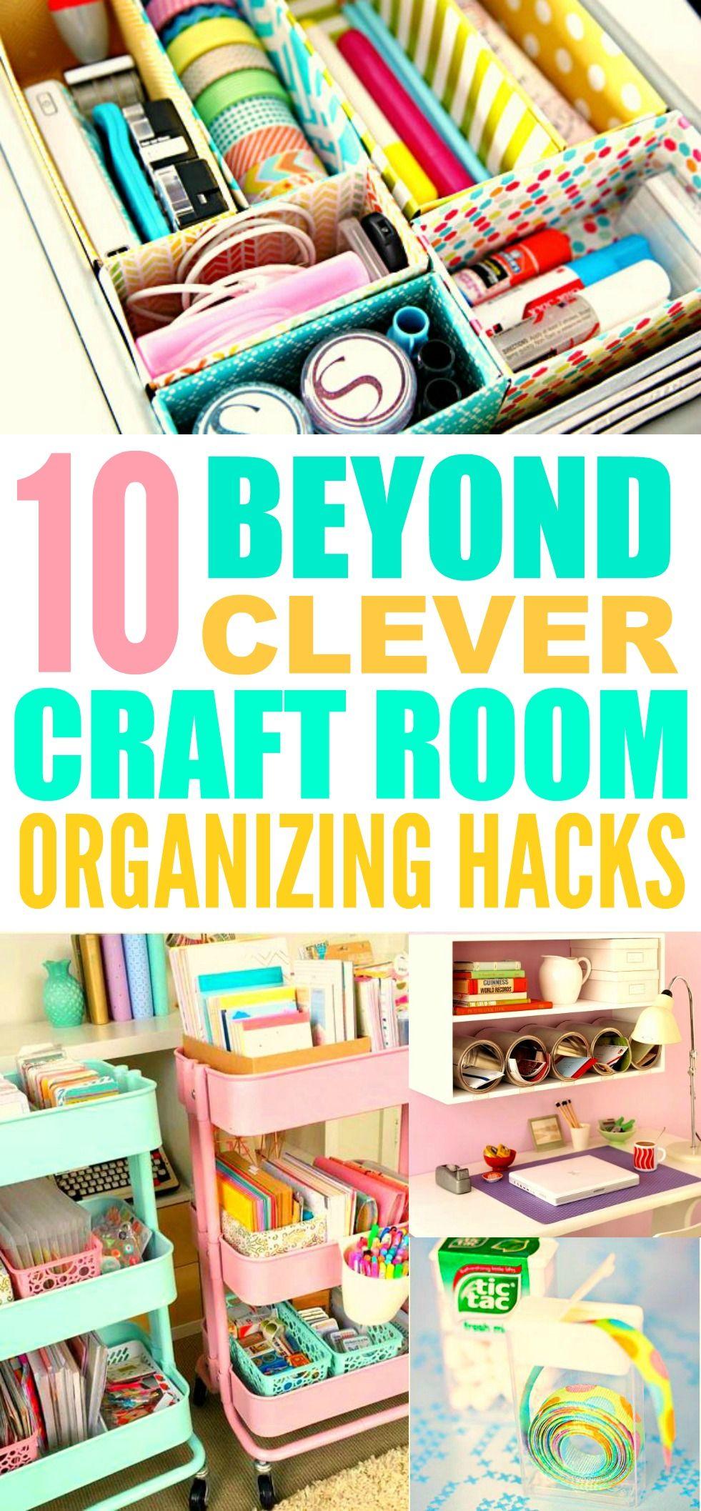 10 Beyond Clever Craft Room Organization Ideas Craft Room Craft Room Organization Sewing Room Organization