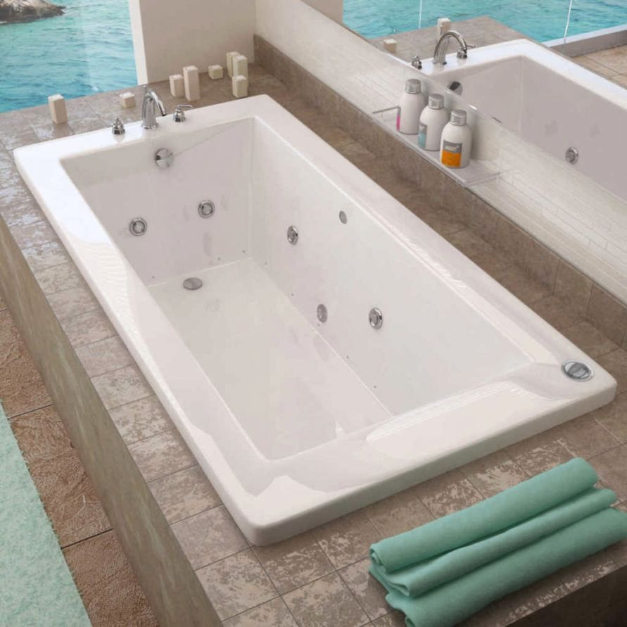 Malibu Home Mhca6042a03 Carolina Oval Massaging Air Jet Bathtub