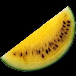 Yellow Watermelon Icon Fruitsalad Iconset Fi3ur Watermelon Fruit Yellow