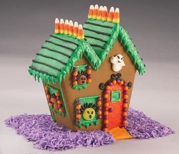 haunted halloween gingerbread house fun idea you can buy kits at wal mart