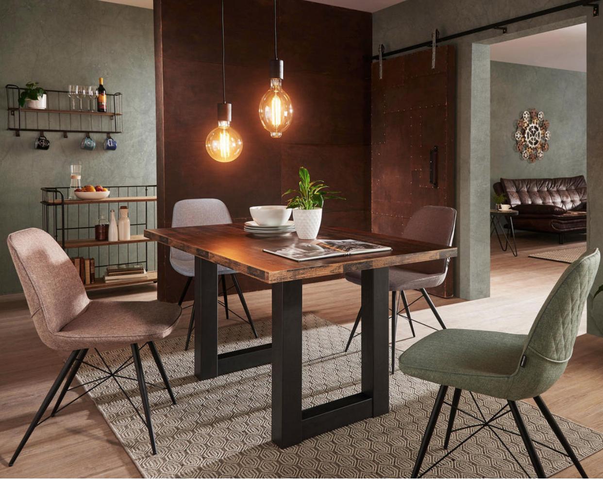 Esstisch mit Stühlen, Tischplatte Holz Furniture, Dining