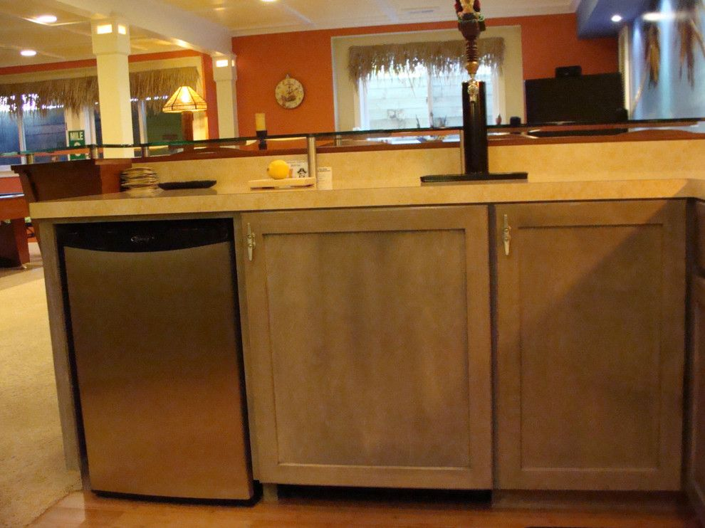 pretty mini kegerator in kitchen tropical with next to coastal condo alongside mini fridge and on outdoor kitchen kegerator id=25542