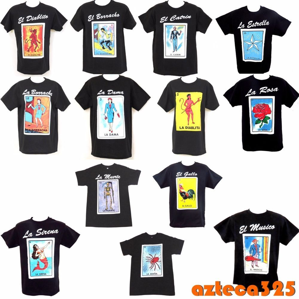 mexican loteria unisex black t shirt funny in 2018 loteria