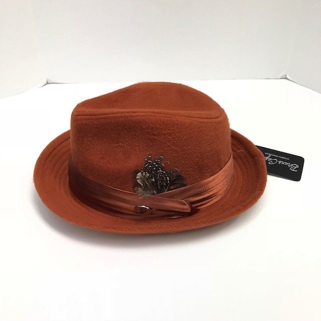 ab8624ef0af5 Men's Bruno Capelo Rust Fedora Hat Montell Collection Crushable Wool Blend  #BrunoCapelo #Fedora