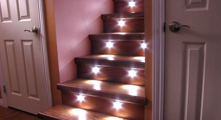 Basement Stair Ceiling Lighting: Automagical Under Stair Lighting. These Would Be Great For