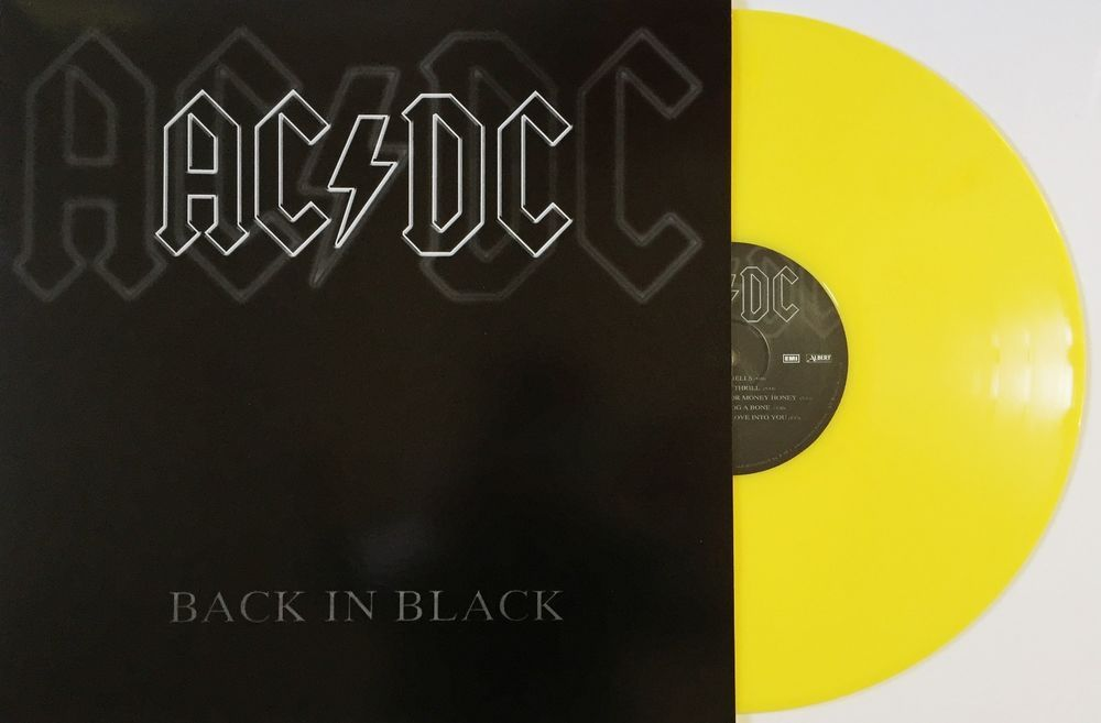 Acdc Back In Black Coloured Vinyl Lp Limited Edition Brand New And
