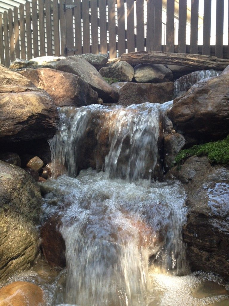 Pondless Waterfall Natural Stone Steps And Boulder Retaining