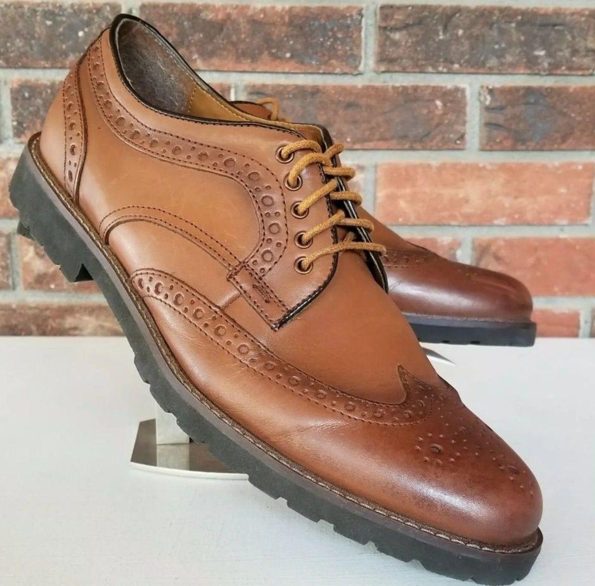 CHAPS Men's Wingtip Oxford Shoes 11.5