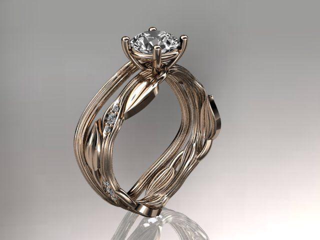 diamond wedding sets with leaves diamond leaf and vine wedding