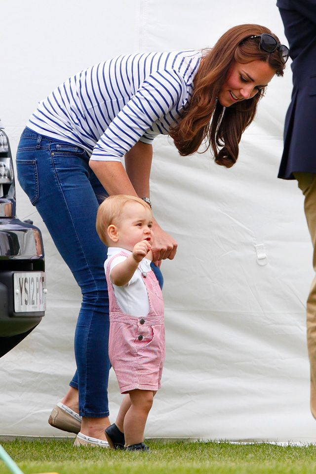 15/06/2014..Kate Middleton and Prince George Cheer on Prince William at Father's Day Polo Match