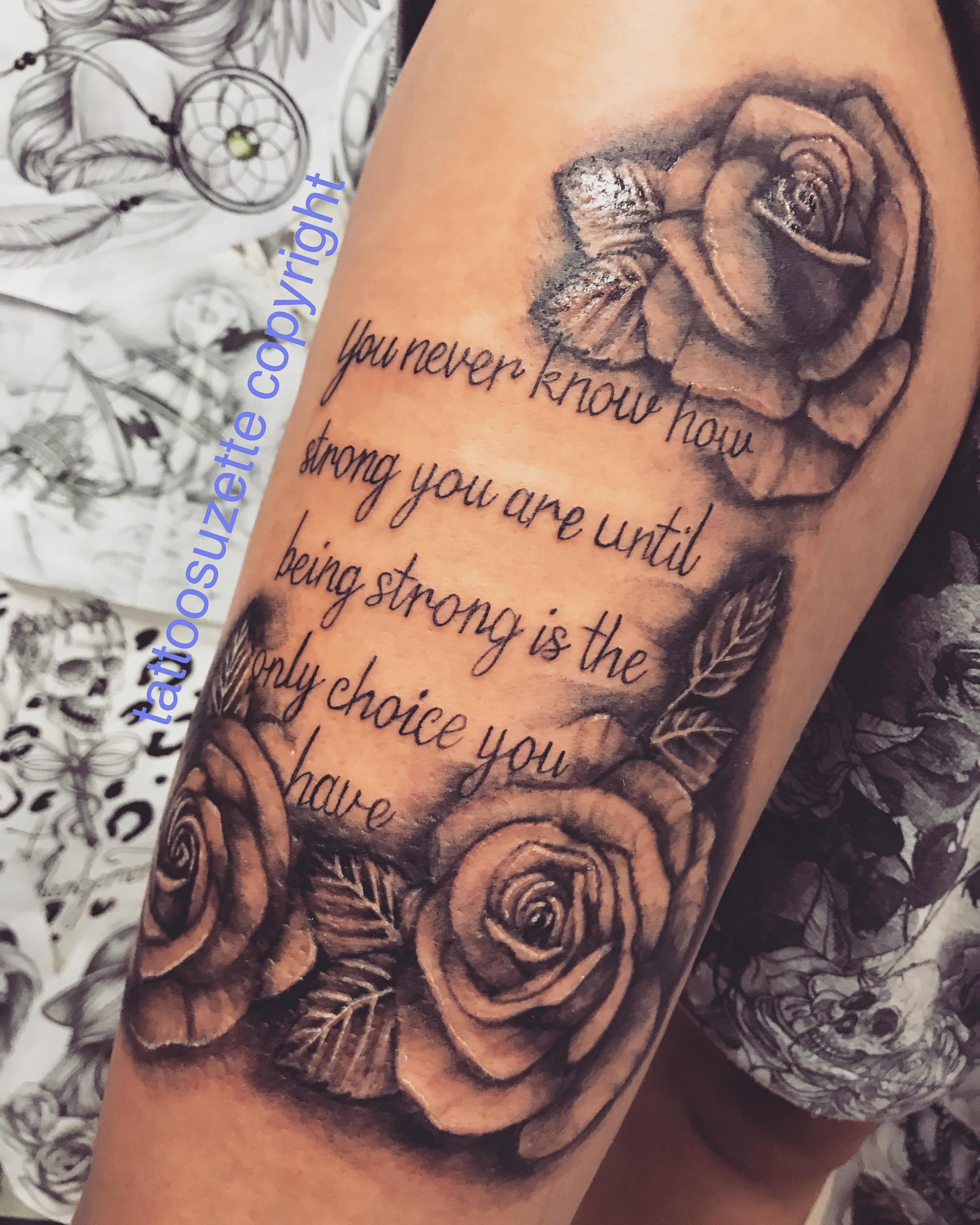 Thightattoo Tattoothigh Tatouagecuisse Cuissetatouage Tattoocuisse Cuissetattoo Rosetattoo T Tattoos For Women Arm Tattoos For Women Upper Thigh Tattoos Women