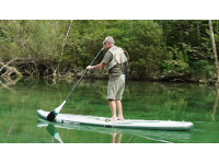 Self inflating electric stand up paddle boards