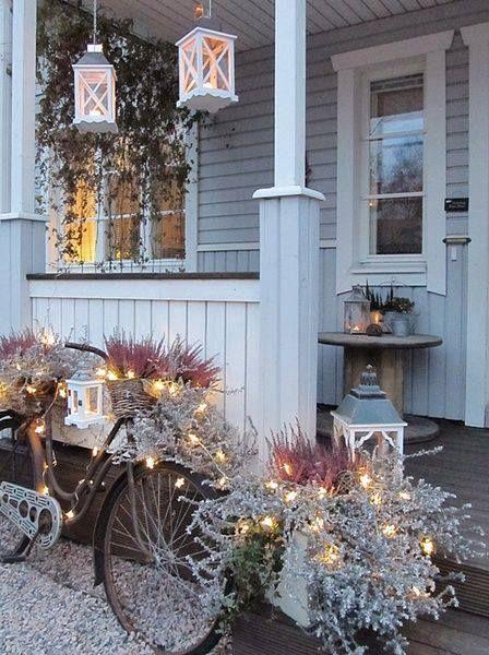 Außendekoration Weihnachten.Pin Von Rima Lingiene Auf Kaledines Kompozicijos Porch Decorating