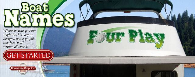 Houseboatgraphicsvinylboatnames Graphics And Logos - Custom designed houseboat graphics