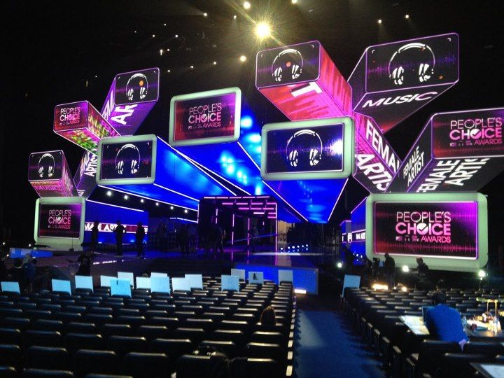 2012 PCA Stage design with huge overhead shapes