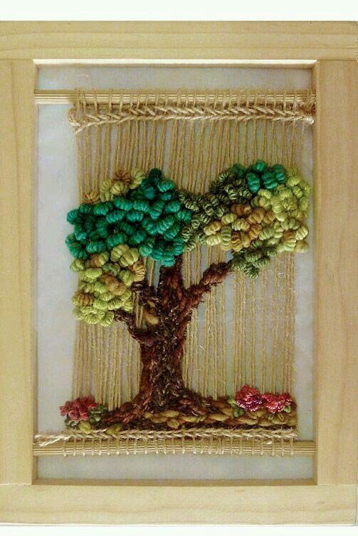 arbol en telar tapestry pinterest tissage broderie et macram. Black Bedroom Furniture Sets. Home Design Ideas