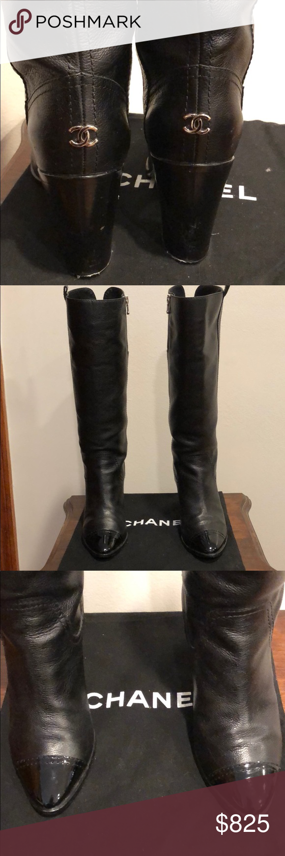 3912c4b1910 Chanel Boots Hello! I am selling a great condition Chanel Knee High Boots  size 38