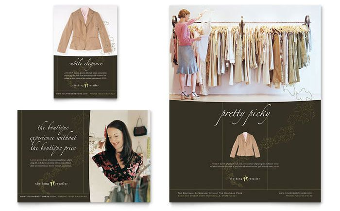 Womenu0027s Clothing Store Flyer and Ad Template Design by - free microsoft word brochure template