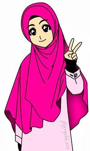 10+ Gambar Kartun Muslimah Gambar Perempuan Islami