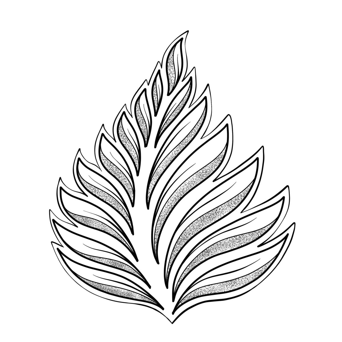 Drawing Leaves Easily Using Simple Shapes In