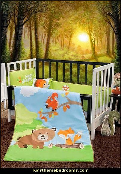 Woodland Animals Crib Bedding Baby Forest Crib Bedding