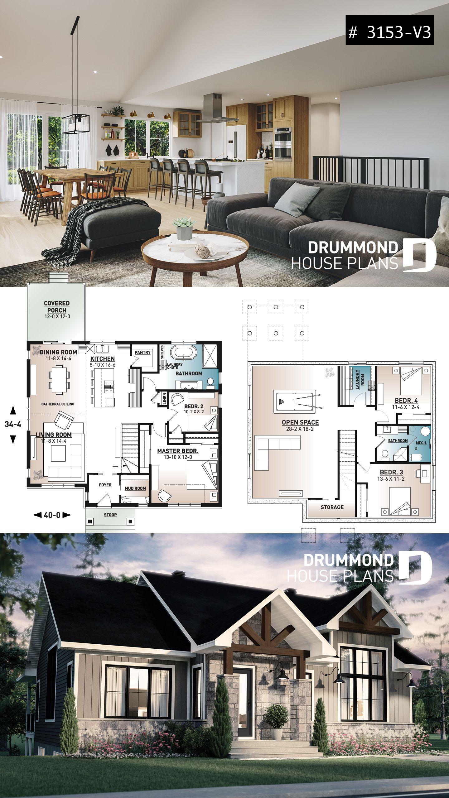 Smalll modern farmhouse plan
