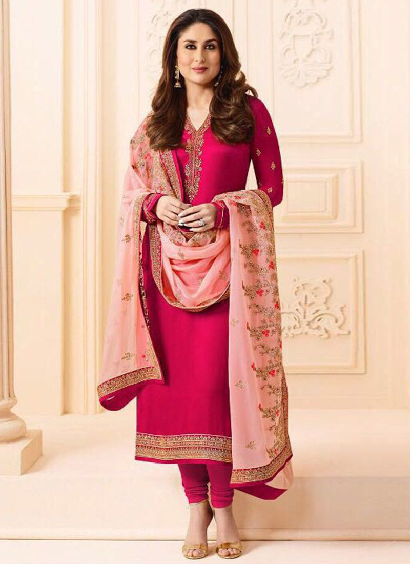 24e8b0d5f9728 Latest Pakistani Indian Straight Cut Salwar Kameez 2018-19 Designs (30)