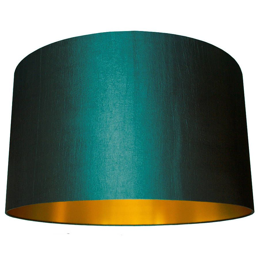 Handmade Gold Lined Lampshade In Peacock Guest Bedroom Design Peacock Living Room Gold Lamp Shades